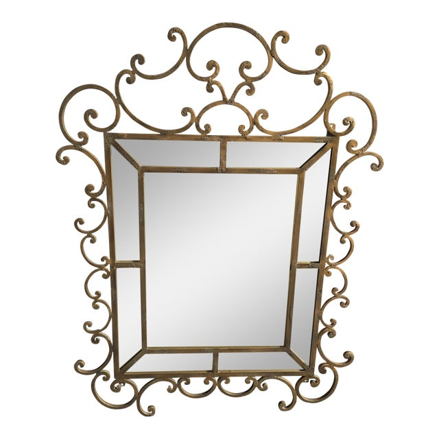 Kreiss Mirror Malaga Wrought Iron For Sale