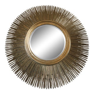 Large Contemporary Sunburnst Mirror For Sale