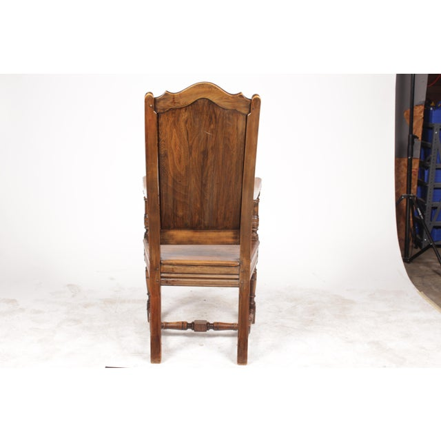 Elizabethan-Style Raised Panel Armchair - Image 8 of 8