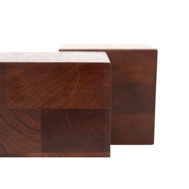 Brown Walnut Martz Bookends For Sale - Image 8 of 11