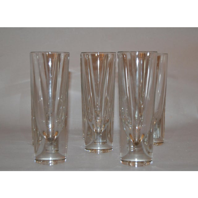 Set of 8 Carlo Moretti Modern Heavy Blown Glass Drinking Glasses, Glassware made in Italy. Each Glass is marked underneath...