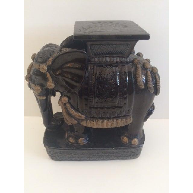 Black Vintage Black Ceramic Garden Stool For Sale - Image 8 of 8