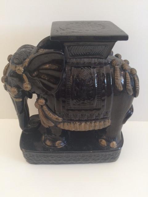 Black Vintage Black Ceramic Garden Stool For Sale   Image 8 Of 8