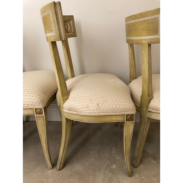Metal Mid Century Klismos Dining Chairs- Set of 4 For Sale - Image 7 of 13