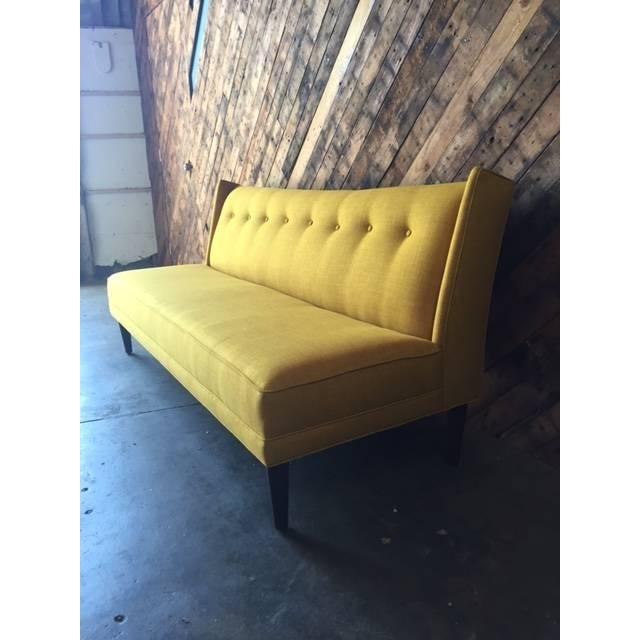 Mid-Century Modern Mid-Century Style Custom Mustard Sofa For Sale - Image 3 of 5