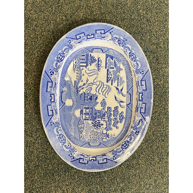 Gorgeous Blue Willow English oversized platter by J.R. Wileman. This is a perfect size for those holiday turkeys and hams!...