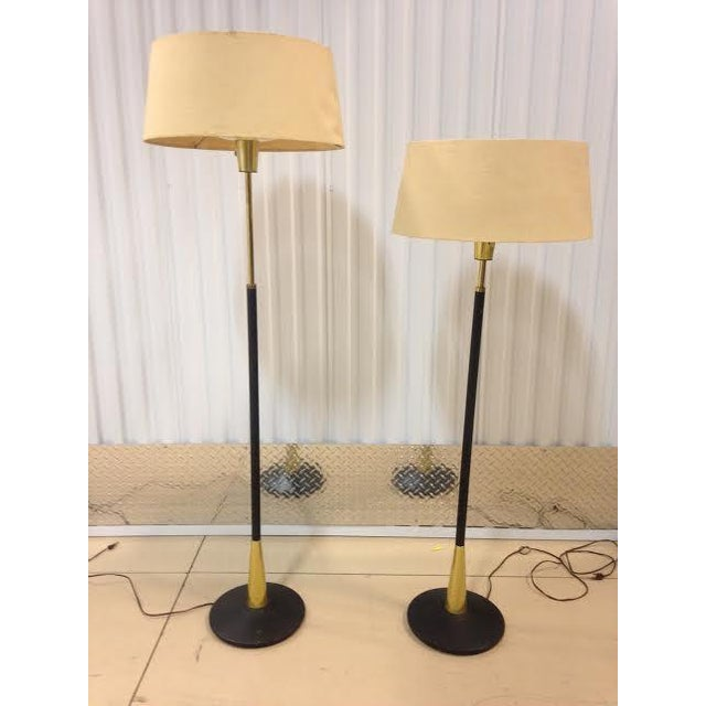 Gerald Thurston for Lightolier Adjustable Floor Lamps - Pair ...