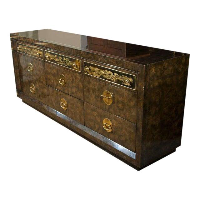 Mid-Century Nine Drawer Dresser by Mastercraft For Sale