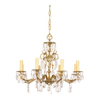 Vintage used spanish chandeliers chairish spanish brass plated crystal chandelier aloadofball