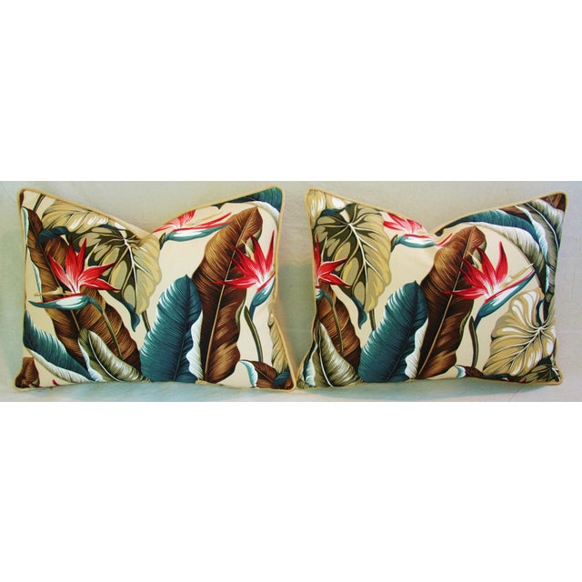 Custom Tropical Bird of Paradise Pillows - A Pair - Image 11 of 11