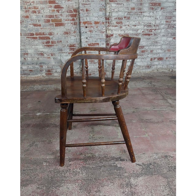 Antique Captain Old West Gambling Arm Chairs -Set of 6 For Sale In Los Angeles - Image 6 of 8