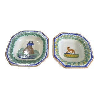 Vintage Mexican Hand Painted Plates - Set of 2 For Sale