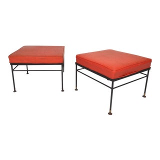 Pair of Mid-Century Modern Foot Stools