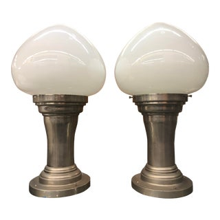 Large Schoolhouse Light Teardrop Style From the Dole Pineapple Estate - a Pair For Sale