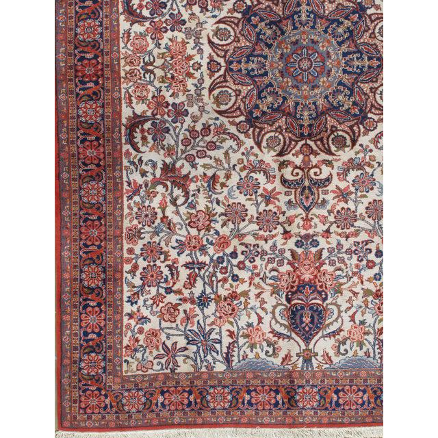 """1950s Vintage Sarouk Hand Woven Rug 6'5"""" X 9'10"""" For Sale - Image 5 of 6"""