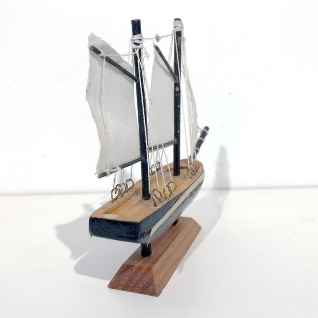 Nautical Wooden Model Sailing Ship - Image 9 of 11
