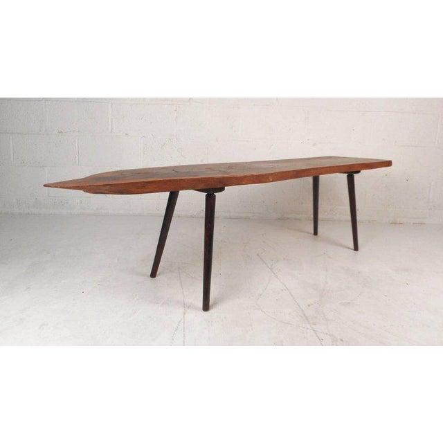 Mid Century Modern Tree Slab Coffee Table For Sale At 1stdibs: Vintage Modern Tree Slab Coffee Table