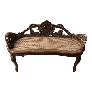 Modern Perigold Solid Pine Portugal Bench For Sale