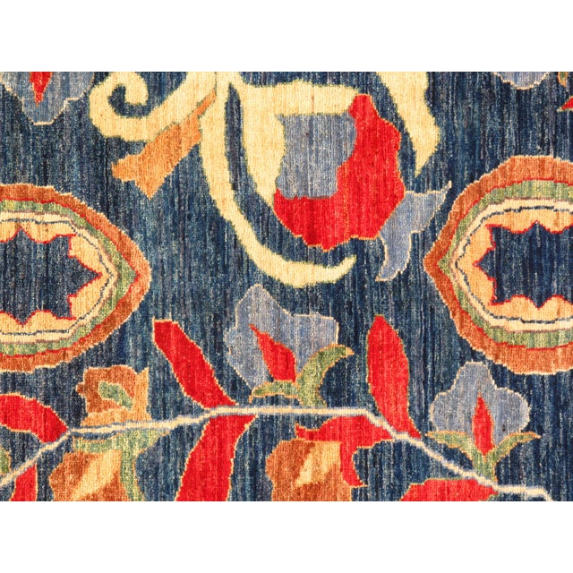 """Boho Chic Pasargad N Y Suzani Design Lamb's Wool Rug - 5'7"""" X 7'6"""" For Sale - Image 3 of 5"""