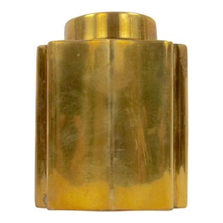 20th Century Traditional Joseph Heinrichs Brass Canister For Sale