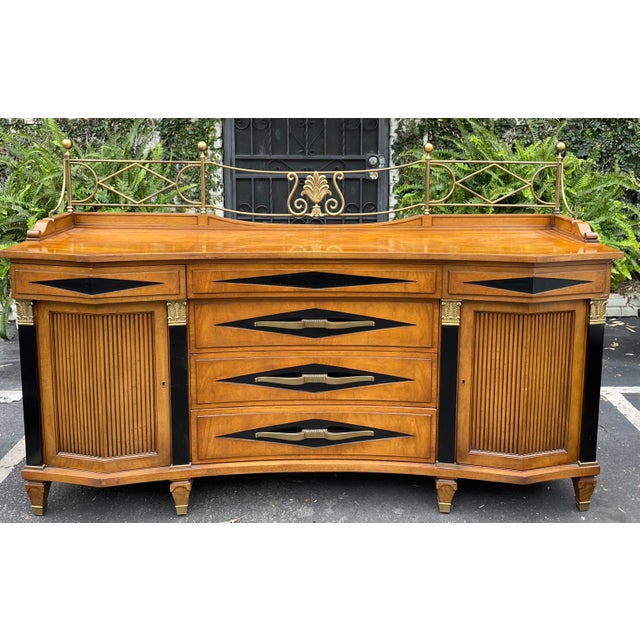 Grosfeld House Hollywood Regency Empire Credenza Buffet Server For Sale - Image 9 of 9