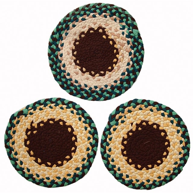 The price is for all 3 items. Vintage hand made American Braided sit covers for the chairs in original condition. They...