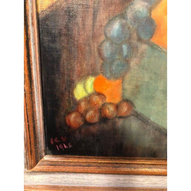 Vintage Mid-Century Still Life on Board Painting For Sale - Image 9 of 13
