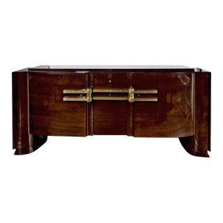 Unusual Arte Moderne Fruitwood Sideboard For Sale