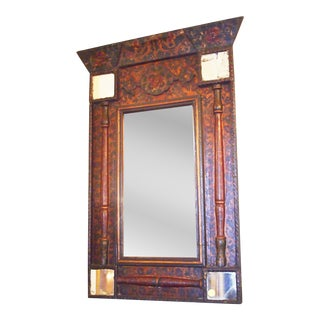 Rare Early 19c. Polychrome Mirror, Provence For Sale