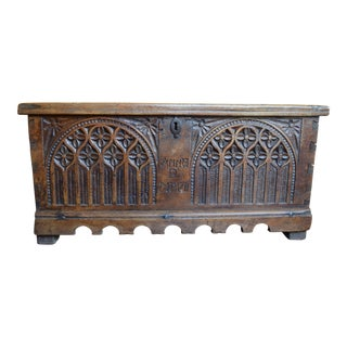 Early Gothic Oak Chest
