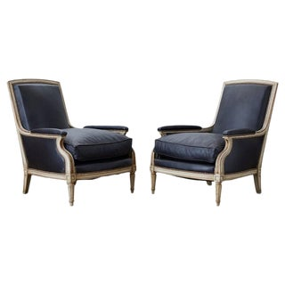 Pair of Maison Jansen Louis XVI Style Bergere Armchairs For Sale