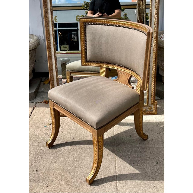 Dessin Fournir Quatrain by Dessin Fournir Swedish Neoclassical Style Side Chair For Sale - Image 4 of 7