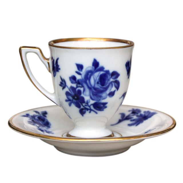Early 20th Century Vintage Baravia Tea Cup & Saucer For Sale - Image 5 of 5