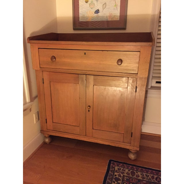 Antique Country Cupboard With Gallery Top For Sale - Image 9 of 9