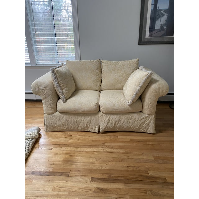Traditional 1980s Traditional Rolled Arm Sofa and Loveseat - A Pair For Sale - Image 3 of 13
