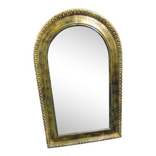 Italian Florentine Style Gold Arched Mirror For Sale
