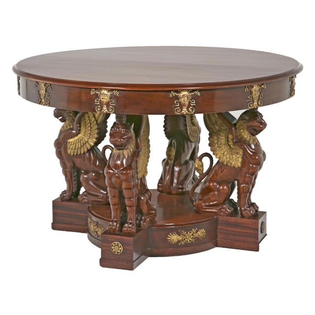19th Century Large Baltic Neoclassical Giltwood Center Table For Sale - Image 10 of 10