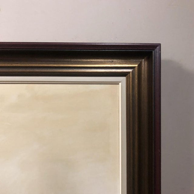 White Antique Framed Oil Painting on Canvas by Pauwels For Sale - Image 8 of 12
