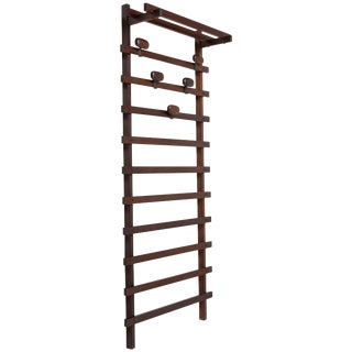 Wall Coat Rack Unit by Ezio Longhi for Elam For Sale