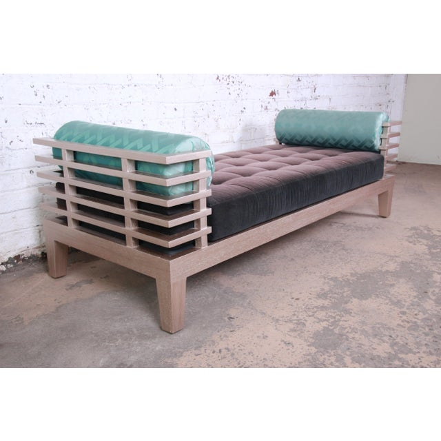 """Contemporary Adriana Hoyos Modern """"Chocolate"""" Day Bed For Sale - Image 3 of 13"""