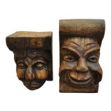 Image of Carved Wood Corbels - a Pair For Sale
