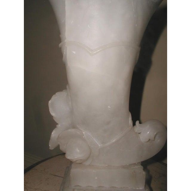 Alabaster Cornucopia Vase C.1900 - Image 6 of 10