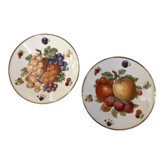 1930's German Bavarian China Fruit Plates - a Pair For Sale