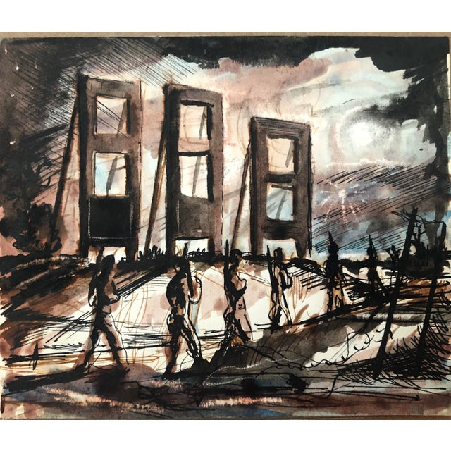 1940s Mid-Century Modern Painting by William Palmer, 1944 For Sale - Image 5 of 5