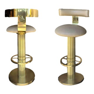 1980s Designs for Leisure Art Deco Bar Stools For Sale