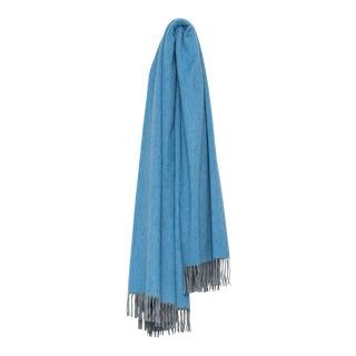 Arran Plain Cashmere Throw, Sky Blue For Sale