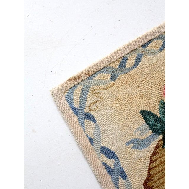 Vintage Hooked Rug For Sale - Image 4 of 8