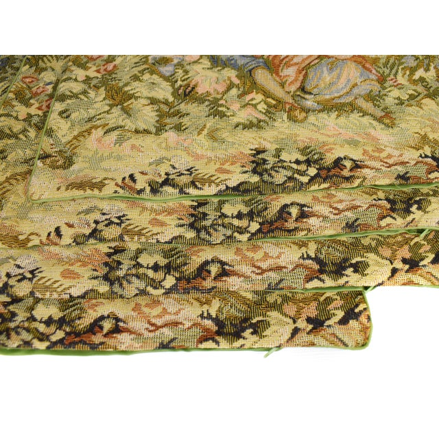 Late 20th Century French Style Fancy Tapestry Cushion Pillow Cover - Set of 4 For Sale - Image 5 of 7