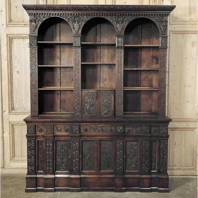19th Century Renaissance Bookcase For Sale - Image 13 of 13
