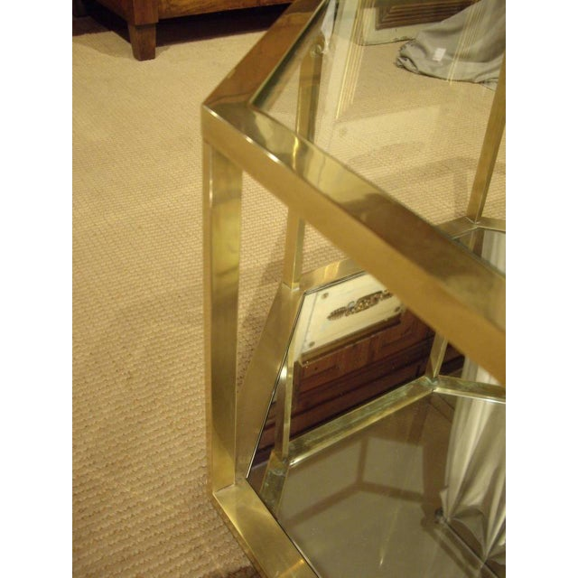 1960s Vintage 1960s French Brass Coffee Table For Sale - Image 5 of 7